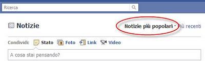 Facebook notizie popolari